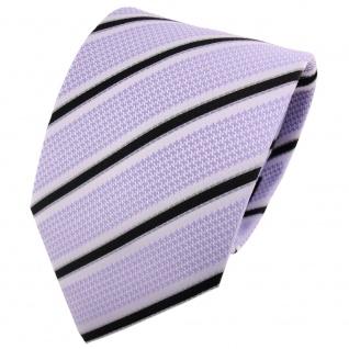 TigerTie Designer Krawatte blaugrau schwarz grau gestreift