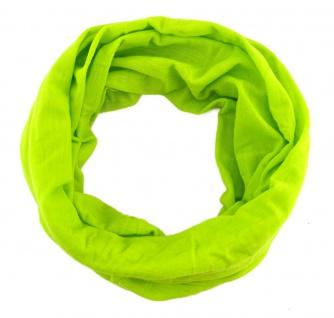 TigerTie Multifunktionstuch in neongrün Uni - Tuch Schal Schlauchtuch Wundertuch