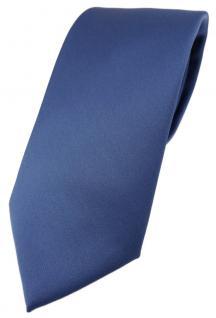 TigerTie Designer Krawatte in capriblau einfarbig Uni - Tie Schlips