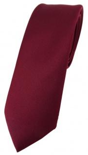 schmale TigerTie Designer Krawatte in bordeaux einfarbig Uni - Tie Schlips