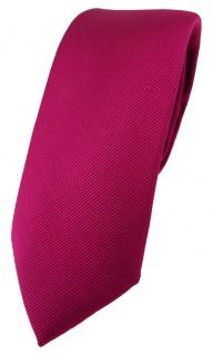 schmale TigerTie Designer Krawatte in beere feinrips uni einfarbig