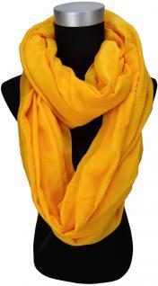 Loop Schal Halstuch in orange einfarbig - Größe 180 x 100 cm - Schlauchschal