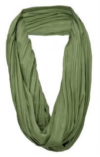 TigerTie Loop Schal in grün einfarbig Uni - Schlauchschal Rundschal