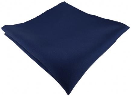 Einstecktuch handrolliert marine einfarbig Uni - 100% Seide - Gr. 30 x 30 cm