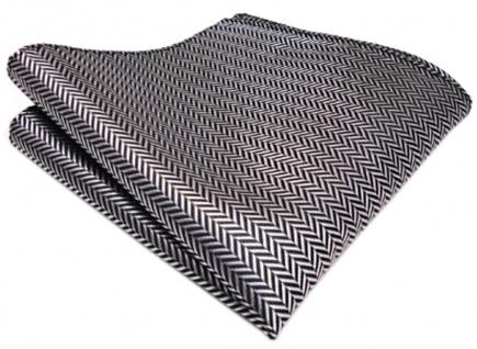 TigerTie Einstecktuch in grau silber - Größe 25 x 25 cm - Tuch 100% Polyester