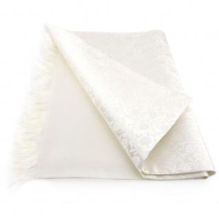 Damen Seidenschal beige creme perlmutt - Gr. 150 x 24 cm - Halstuch Schal Seide