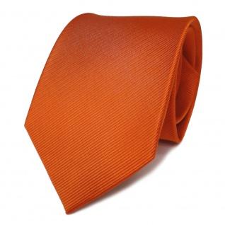 TigerTie Seidenkrawatte orange verkehrsorange reinorange Uni Rips - Krawatte