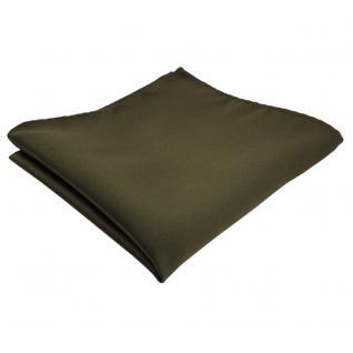 schönes TigerTie Einstecktuch oliv grün dunkelgrün einfarbig - Tuch Polyester