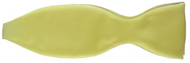 TigerTie Satin Selbstbinder Fliege in gelb blassgelb Uni einfarbig + Geschenkbox