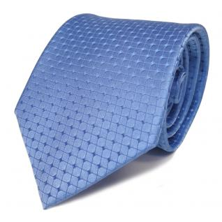 Schicke TigerTie Seidenkrawatte blau hellblau gemustert - Krawatte Seide Binder
