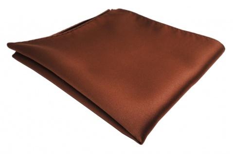TigerTie Einstecktuch braun rot rotbraun einfarbig - Tuch Polyester