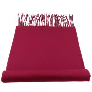 Feiner TigerTie Designer Schal in rot purpurrot himbeerrot Uni - Cashmink