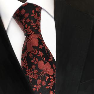 Designer Seidenkrawatte braun kupfer schwarz gemustert - Krawatte Seide Tie Silk