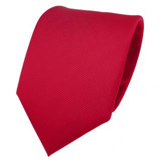 TigerTie Designer Krawatte rot verkehrsrot knallrot Uni Rips - Binder Tie