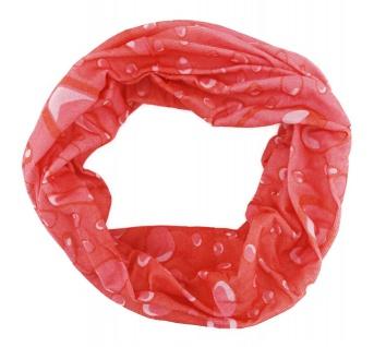 TigerTie Multifunktionstuch rot rosé weiss Wassertropfen Tuch Schal Schlauchtuch
