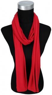 TigerTie Schal in rot einfarbig - Größe 180 x 30 cm - Material: 100% Viscose
