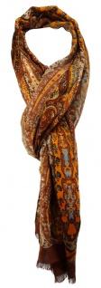 TigerTie Designer Schal orange braun grau türkis schwarz beige gemustert
