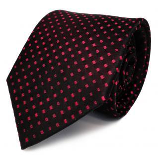 Designer Seidenkrawatte rot schwarzrot gepunktet - Krawatte Seide Binder
