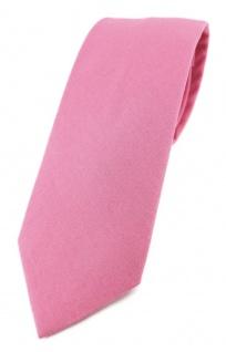 TigerTie Krawatte rosa pink Unicolor einfarbig - Breite 7, 5 cm - 100% Baumwolle