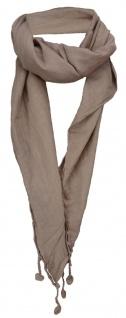 Damen Halstuch Dreieckstuch erdbraun Uni Gr. 160 x 75 cm - Tuch Schal Baumwolle - Vorschau