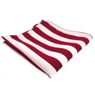 TigerTie Einstecktuch in rot signalrot weiss gestreift - 100% Polyester