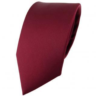 Modische TigerTie Satin Seidenkrawatte bordeaux einfarbig - Krawatte 100% Seide