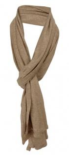 Schal in braun grau uni einfarbig - Schalgröße 180 x 40 cm