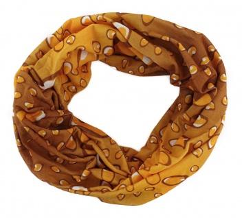 TigerTie Multifunktionstuch ocker braun Wassertropfen - Tuch Schal Schlauchtuch