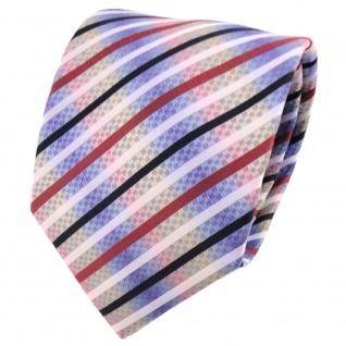 schöne TigerTie Designer Krawatte mehrfarbig gestreift - Cravate Tie Binder