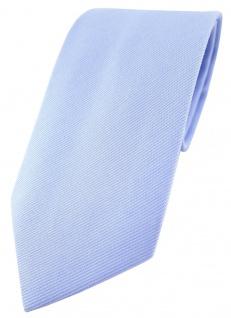TigerTie Designer Krawatte in blau Uni - 100% Baumwolle - Krawattenbreite 8 cm