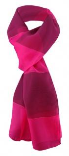 TigerTie Damen Chiffon Halstuch magenta pink lila gestreift 165 cm x 40 cm