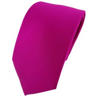 TigerTie Designer Krawatte in magenta einfarbig Uni