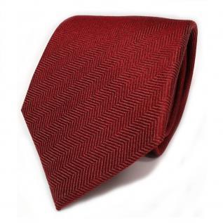 Designer Seidenkrawatte rot rubinrot dunkelrot gemustert - Krawatte
