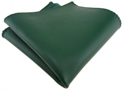 TigerTie Ledereinstecktuch in grün einfarbig Uni - Einstecktuch 100% Lammnappa - Vorschau 1