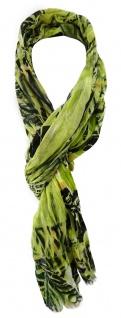TigerTie Designer Schal in grün grasgrün schwarz grau olive gemustert