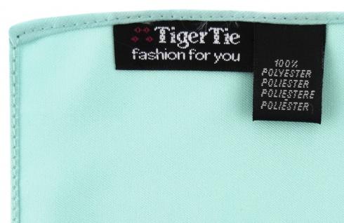 TigerTie Satin Krawatte + TigerTie Einstecktuch in mint grün Uni einfarbig - Vorschau 4