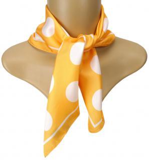TigerTie Seiden Nickituch Satin in orange weiss gepunktet - Größe 50 x 50 cm
