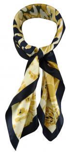 TigerTie Damen Nickituch Halstuch in gold beige braun grau gemustert