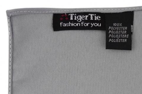 TigerTie Einstecktuch grau anthrazit einfarbig Uni - Tuch Polyester - 26 x 26 cm - Vorschau 2