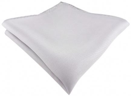Einstecktuch handrolliert silber einfarbig Uni - 100% Seide - Gr. 30 x 30 cm