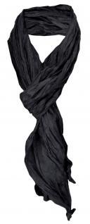 gecrashter TigerTie Seidenschal in schwarz einfarbig - Schal Gr. 180 x 50 cm - Vorschau