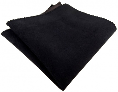 TigerTie Ledereinstecktuch schwarz einfarbig Uni - Einstecktuch 100% Lammnappa - Vorschau 2