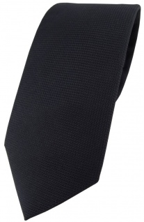 Blick. elementum Seidenkrawatte in schwarz Punktstruktur - Krawatte 100% Seide