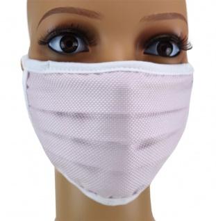 TigerTie Gesichtsmaske mit Nasenbügel Pique rosa gemustert mit Schnürbändchen