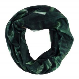 TigerTie Multifunktionstuch grün dunkelgrün Totenkopf - Tuch Schal Schlauchtuch
