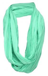 TigerTie Loop Schal in mint mintgrün einfarbig Uni - Schlauchschal Rundschal