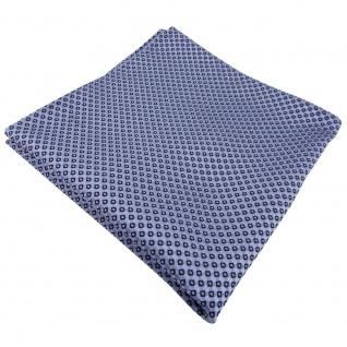 TigerTie Seideneinstecktuch blau brillantblau gepunktet - Einstecktuch Seide