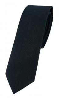 TigerTie - schmale Krawatte schwarz einfarbig - Breite 5, 5 cm - 100% Baumwolle