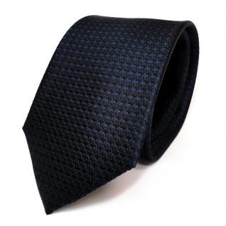 Designer Seidenkrawatte blau dunkelblau schwarzblau gemustert - Krawatte Seide