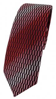 schmale TigerTie Krawatte in rot verkehrsrot rose schwarz silber grau gemustert